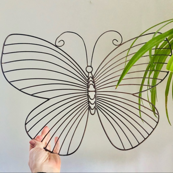 Wire Butterfly Metal Wall Hanging Accent Decor